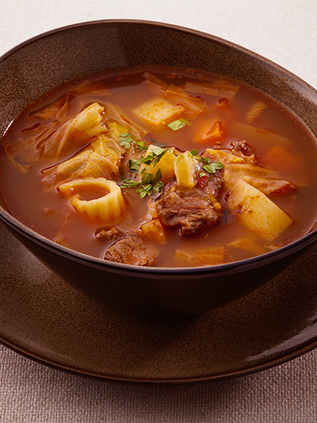 Italian-style Tomato and Vegetable Beef Soup